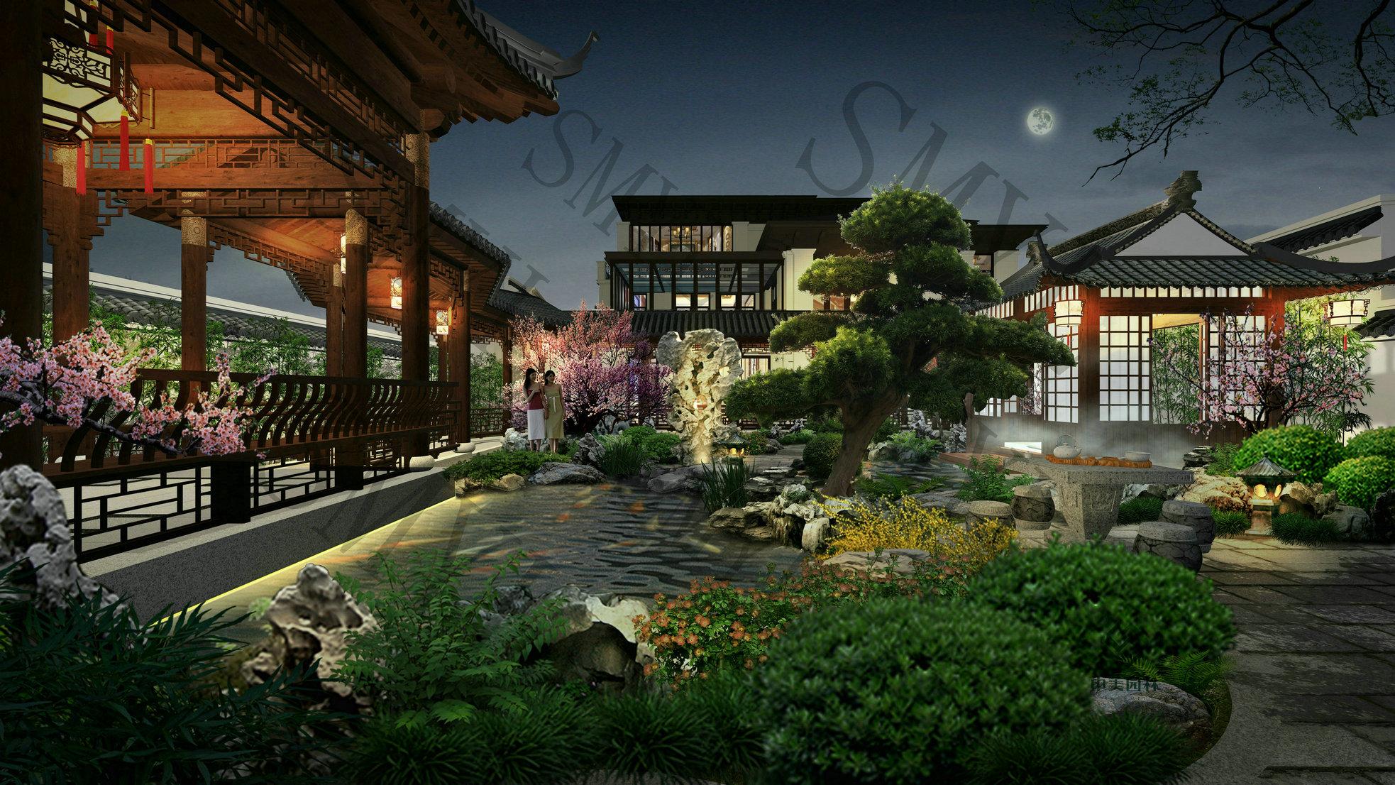 珠海翠湖香山别墅私家庭院项目